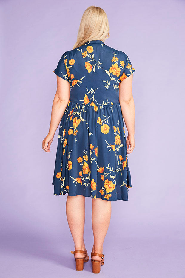 Frankie Navy Floral Dress
