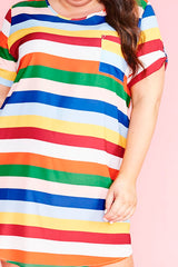Wayward Rainbow Stripe Dress