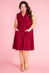 Sweetie Burgundy Dress