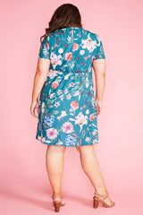 Duchess Green Floral Dress