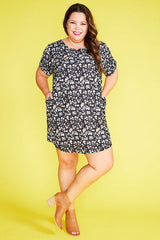 Wayward Black Floral Dress