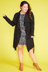 Bianca Black Waterfall Jacket