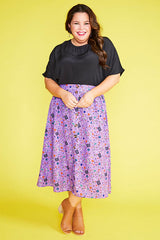 Kylie Purple Teacher Skirt