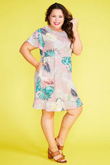 Gillian Blush Palms Dress