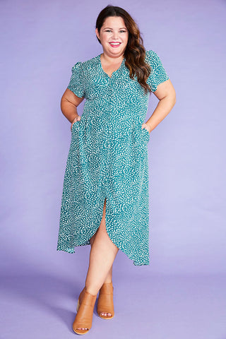 Rose Green Spots Dress