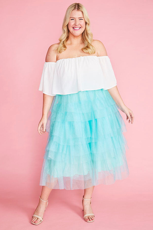 Broadway Mint Tulle Skirt