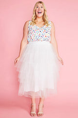 Broadway White Tulle Skirt