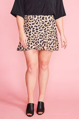 Pebbles Leopard Print Wrap Skirt