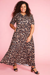 Audrey Leopard Print Dress