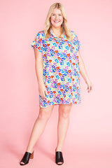 Frances Rainbow Leopard Shirt Dress