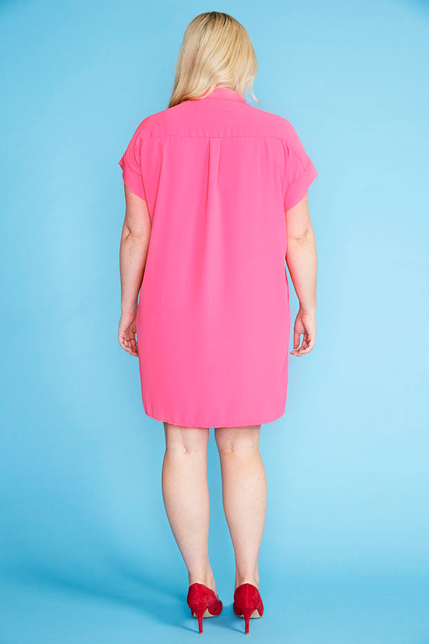Frances Pink Shirt Dress