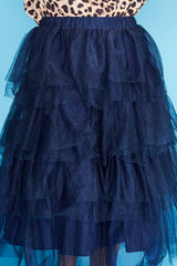 Broadway Navy Tulle Skirt
