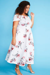 Honey White Floral Dress
