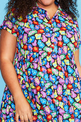 Frankie Rainbow Leopard Dress