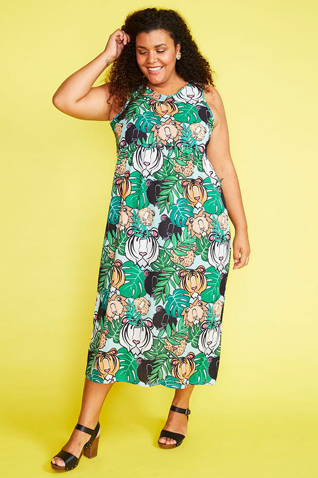Leanne Big Cats Dress