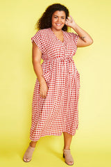 Georgie Red Gingham Dress
