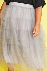 Broadway Grey Tulle Skirt