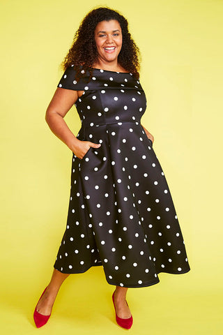 Honey Black Polka Dot Dress