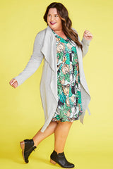 Bianca Grey Waterfall Jacket