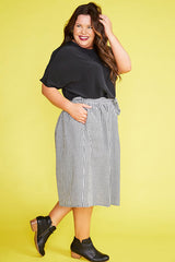 Country Charm Black Gingham Skirt