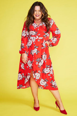 Danica Red Floral Dress