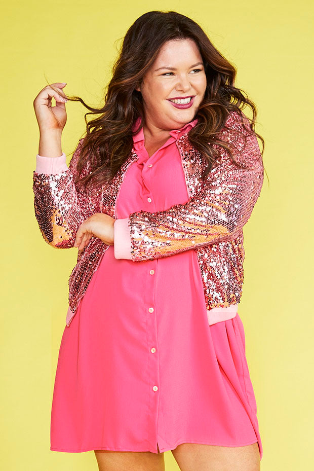 Ignite Pink Sequin Jacket