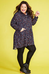 Joanna Navy Spots Dress
