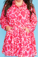 Joanna Pink Leopard Dress