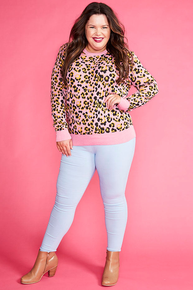 Downtime Pink Leopard Knit