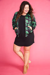 Sutton Black Leaves Jacket