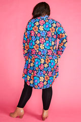 Joanna Pansy Print Dress