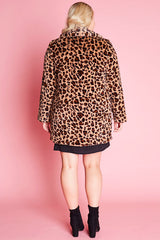 James Leopard Coat