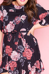 Ellie Black Floral Dress