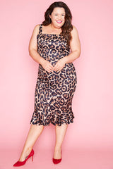 Lucinda Leopard Print Dress