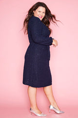Riverside Navy Midi Dress