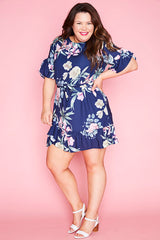Ellie Navy Floral Dress