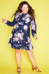 Starlight Navy Floral Dress