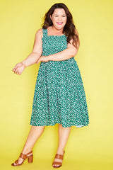 Wallflower Green Floral Dress