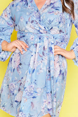 Addison Blue Floral Dress