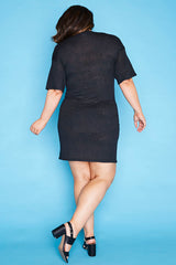 Terri Black Knit Dress