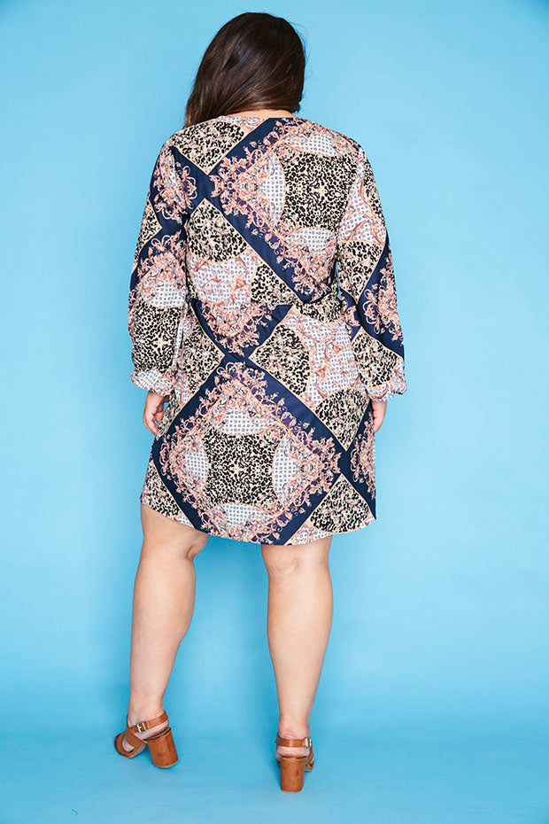 Addison Scarf Print Dress
