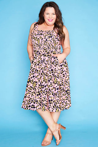 Wallflower Pink Leopard Dress