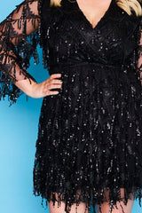 Delilah Black Sequin Dress