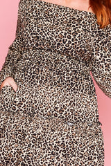 Luna Leopard Print Dress