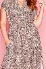 Miley Leopard Print Maxi Dress