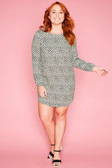 Willow Green Print Dress