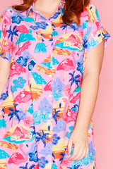 Frances Aloha Baby! Shirt Dress