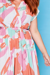 Miley Brushstroke Maxi Dress