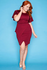 Drama Queen Burgundy Dress