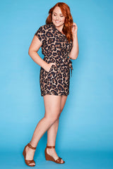 Vacation Leopard Print Playsuit